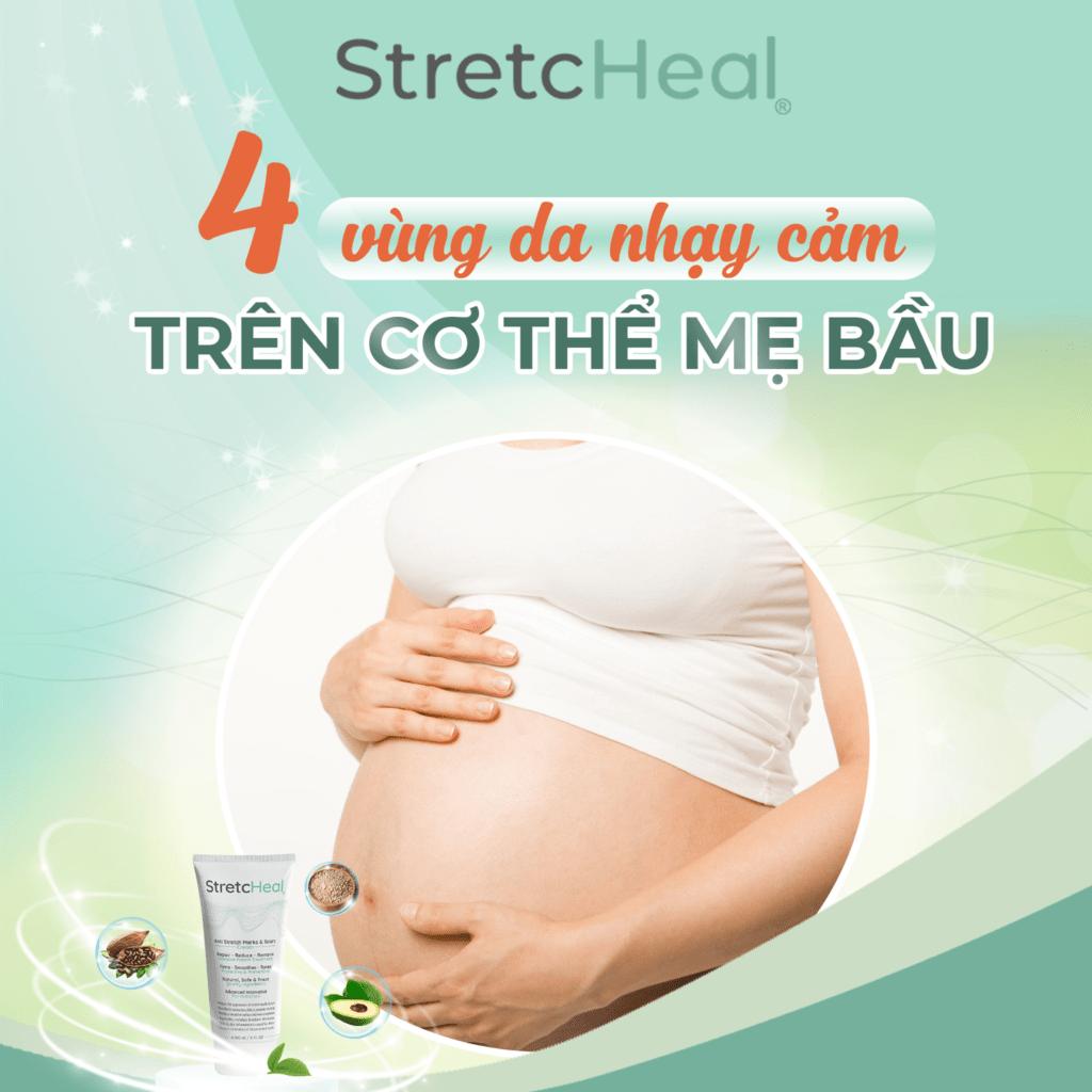 4 vùng da nhạy cảm trên cơ thể mẹ bầu
